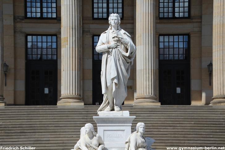 Denkmal Friedrich Schiller auf dem Berliner Gendarmenmarkt